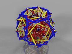 String Polyhedron (fdecomite) Tags: math string povray polyhedron pentagonal hexecontahedron