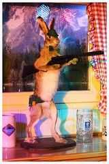 Hare with a gun (ec1jack) Tags: christmas uk november winter england rabbit london westminster night festive hare gun britain funhouse wonderland winterwonderland riffle kierankelly 2013 ec1jack canoneos600d