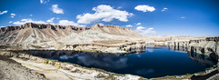 Band e Amir, Afghanistan (Richard Dunwoody Photography) Tags: blue cliff lake afghanistan reflection nature water clouds dam mosque bamiyan bandeamir dunwoodyphotography