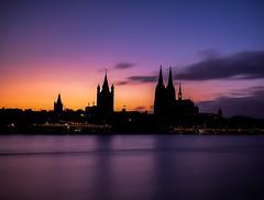 Cologne silhouette (#12 on Explore) (macita83) Tags: silhouette skyline architecture lights colours view cathedral dom cologne köln architektur lichter philharmonie langzeitbelichtung 5dmarkii