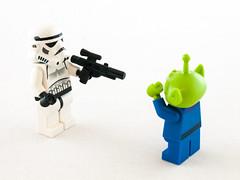 Lego (wwarby) Tags: slr toy toys lego toystory character small alien olympus indoors whitebackground stormtrooper digitalcamera e3 figurine zuiko lighttent digitalslr minifigure 50mmmacro zuikodigital olympuse3
