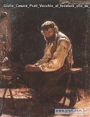 Giulio Cesare Prati Vecchio al focolare olio su tela 1883 Archivi del 900 Museo Arte Moderna Trento