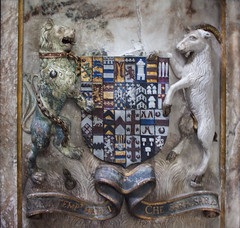 Ambrose coat of arms (Sic Itur Ad Astra LRPS) Tags: church monument memorial medieval warwick warwickshire effigy collegiate beauchamp