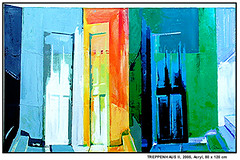 für PSD-BANK: TREPPENHAUS II (CHRISTIAN DAMERIUS - KUNSTGALERIE HAMBURG) Tags: orange berlin rot silhouette modern strand deutschland see licht stillleben dock gesicht meer wasser fenster räume hamburg herbst felder wolken haus technik porträt menschen container gelb stadt grün blau ufer hafen fluss landungsbrücken wald nordsee bäume ostsee schatten spiegelung schwarz elbe horizont bilder schiffe ausstellung schleswigholstein frühling landschaften dunkelheit wellen kräne rapsfelder acrylbilder hamburgermichel realistisch nordart acrylmalerei acrylgemälde auftragsmalerei bilderwerk auftragsbilder kunstausschreibungen kunstwettbewerbe galerienhamburg auftragsmalereihamburg cdamerius hamburgerkünstler malereihamburg kunstgaleriehamburg galerieninhamburg acrylbilderhamburg virtuellegaleriehamburg acrylmalereihamburg