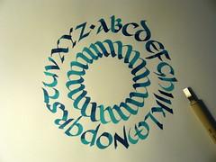 Uncial (xelo garrigs) Tags: calligraphy caligrafa uncial calligraphie xelo calligrafia garrigs