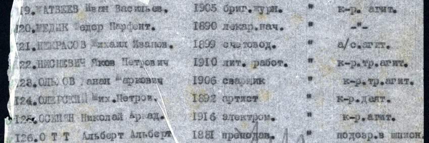 Список попутчиков Мандельштама