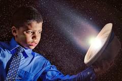 """Catching Comets"" (horton.jason7000) Tags: portrait sky night stars space hats tie suit comets strobe"
