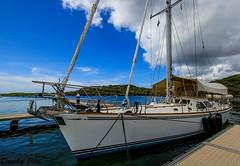 Nautical Focus at Curacao Dutch Antilles (Dunby PICS) Tags: ocean santa sea beach netherlands dutch sailboat marina golf bay boat resort barbara curacao sail caribbean antilles