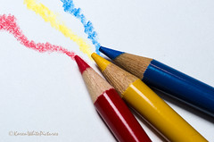 primary colours (sure2talk) Tags: blue red yellow primarycolours colouredpencils thepinnaclehof tpnonnaturemacroandcloseup 114picturesin201464primarycolours tphofweek241