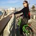 Jessica on a bike