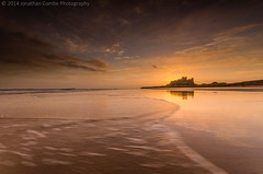 Golden Morning. (Jonathan Combe (Thank you for 400,000 views!)) Tags: sea sky seascape castle water clouds landscape golden nikond7000 {vision}:{ocean}=0723 {vision}:{beach}=0503 {vision}:{outdoor}=0901 {vision}:{sky}=0987 {vision}:{sunset}=0796 {vision}:{clouds}=0931