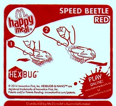 McDonald's Happy Meal toys  2014 Feb Australia HexBug (hytam2) Tags: toys happy australia mcdonalds meal feb happymeal 2014 hexbug speedbeetle