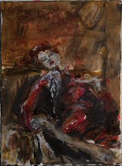 chair (davedehetre) Tags: wallpaper usa art lamp fashion night watercolor painting lawrence artwork model chair room kansas