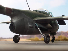 1:72 Kokusai Ki-202 Kai 'Goryō' (御霊); 4th Sentai, 3rd Hikotai; Ozaki AB (Yamaguchi Prefecture), Japan; April 1946 (Whif/Kitbashing/Luft '46) (dizzyfugu) Tags: army japanese fighter conversion aircraft aviation jet imperial ta luft ki 46 172 1946 fictional ija whatif 182 modellbau luftwaffe kokusai hikoki flitzer turbojet goryo kitai whif karyo ne20 ishikawajima dizzyfugu ki202