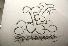 Stackabones (No Real Name Given.) Tags: train graffiti streak oil buff stick boxcar hobo freight moniker benching stackabones