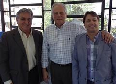 """Cairoli com os pré-candidatos a deputado estadual e presidente do PSD Porto Alegre, Nelcir Tessaro e a deputado federal, Bibo Nunes. • <a style=""""font-size:0.8em;"""" href=""""http://www.flickr.com/photos/124619742@N07/14012444160/"""" target=""""_blank"""">View on Flickr</a>"""