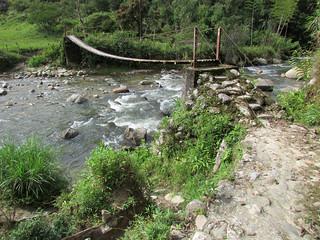 Puente veredal. Alejandría - Concepción, Antioquia.