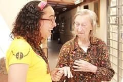 Dona Nilda nos dizendo o que queria ganhar de Natal (fb.com/projetogirassolpoa) Tags: projetogirassol lardaamizade idosos cegos caridade gratidão voluntariado pedidosdenatal trabalhovoluntário