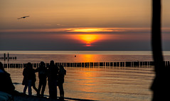 Sundown - Zingst Germany (Wolfgang-Weber) Tags: sundown people leute menschen orange wasser water sand strand blau sea horizont holidays urlaub culture photo zingst germany deutschland wolfgang weber photography