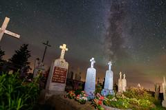 Eternity (free3yourmind) Tags: eternity night nightsky stars milky way cemetery graves belarus braslav polish