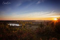 Oxford County Sunrise (WXSpencerSills) Tags: sunrise oxfordcounty landscape valley windturbine pond
