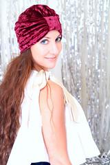 Crushed Velvet Turban in Burgundy (Mademoiselle Mermaid) Tags: turban turbans hairturban headturban hairwrap fashionturban womensturban womenturban handmade mademoisellemermaid fullturban velvet velvetturban velvetturbans crushedvelvet burgundy wine