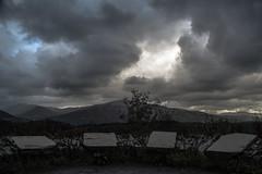 Blue sky VS Black clouds (Paul-Emile Grisard) Tags: uk united kingdom scotland rain sky blue clouds black trees landscape view leaves amazing stunning rocks loch trossachs cloudy wet dirt hills breathtaking windy park national bright curtain d5200 nikon september 2016
