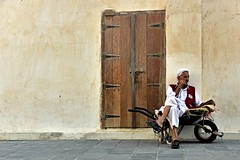 Closed Future (Sanjiban2011) Tags: doha qatar souq souqwaqif door street porter wait alone single outdoor nikon d750 fullframe nikon24120
