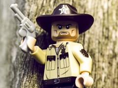 Rick Grimes from Walking Dead (jezbags) Tags: walking dead zombies gun sheriff rick grimes lego macrolego macro macrophotography macrodreams canon60d canon 60d 100mm closeup