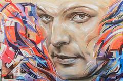 Wall face (dave.fergy) Tags: people abstract red graffiti eye face bodypart street taupo waikato newzealand nz