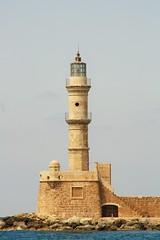 Old pier (stonedjellyfish) Tags: pier lighthouse oldharbour rocks chania crete greece