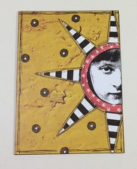 star girl (juliajae) Tags: atc artisttradingcard mixedmedia swapexchange