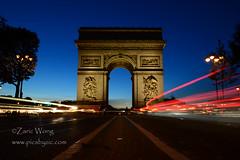 DSC_8160 (Zaric (picsbyzic)) Tags: arcdetriomphe paris france avenuedeschampslyses champslyses longexposure lighttrails monument ruedeschampslyses