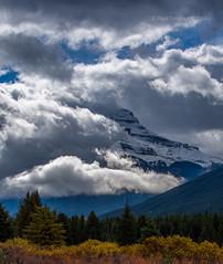 Pilot Mountain (pauls1502) Tags: clouds canada banff mountains forest autumn alberta nikon rocky rockymountains rockies canadian banffnationalpark lakelouise jasper