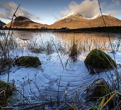 Frozen ripples (lawrencecornell25) Tags: landscape waterscape ice frozen redcuillins lochan mountains scenery isleofskye scotland nature outdoors nikond5