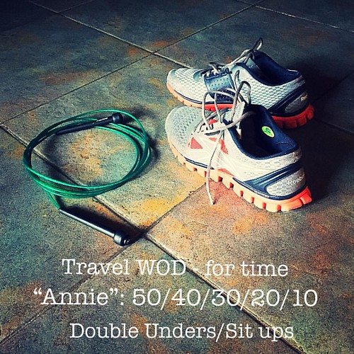 ATP extra: Travel WOD for time: 15 minutes #amsicrossfit #crossfit #crossfitgirls #annie #travelwod