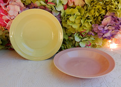 Taylor Smith Taylor Luray Pastels Soup Bowls ~ Yellow ~ Pink (Donna's Collectables) Tags: taylor smith luray pastels soup bowls ~ yellow pink thanksgiving christmas