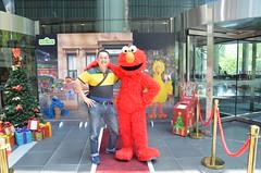 Elmo with Alpha - Sesame Street Australia Post Meet and Greet 2016 (avlxyz) Tags: elmo sesamestreet australiapost fb
