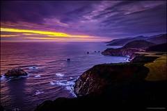 Last Light at Big Sur (nl_photo) Tags: 2016 bigsur california sunset fujix fujixseries coast beach west westcoast pch bixby bridge bixbybridge beautiful clouds fujifilm