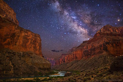 "Milky Way over Grand Canyon (IronRodArt - Royce Bair (""Star Shooter"")) Tags: grandcanyon nankoweapcanyon nankoweap grandcanyonnationalpark arizona milkyway stars starrynightsky night sky universe nightscape nightscapes coloradoriver desert canyon lanscape"