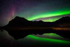 Aurora in the mirror (modesrodriguez) Tags: 2016 iceland islandia landscape paisaje travel viaje auroraborealis northernlights greensky sky stars