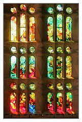 Beautiful Sagrada Familia (kurtwolf303) Tags: farbglas fotorahmen indoor sagradafamilia church kirche basilika antonigaudi gaudi canoneos600d gebude building holy heilig fenster windows light colors farben bunt colorful unlimitedphotos 250v10f topf25 topf50 500v20f topf75 topf100 800views 900views 1000v40f stainedglass