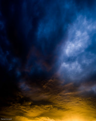 Storm cloud detail with sunset light (Daniel Arnaldi) Tags: australasia australia centralcoast clouds dark dramatic light newsouthwales oceania sky moody storm stormy sunlight weather danielarnaldiphotographer