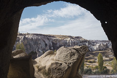 Cave with a View (Christopher-James Brame) Tags: cave landscape sky nature clouds travel turkey goreme cappodacia colours view