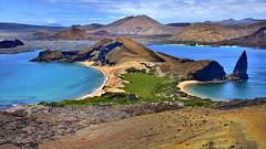 Isla Bartolom, Galapagos (flowerikka) Tags: ecuador galapagos islabartholom pinnaclerock vulcan vliew mountain pacific lava sea snorkel beach islabartholom