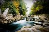 La fuerza del agua (Ignacio Sedano) Tags: río agua rocas vede niebla cantabria