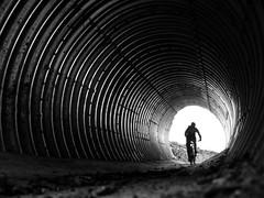 (Magdalena Roeseler) Tags: street strassenfotografie streetphotography bike mouneinbike trail zugerberg tunnel candid bw sw monochrome olympus