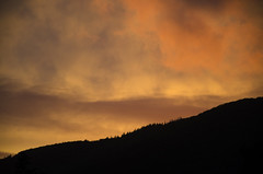 The Sky is Burning DSL9036 (iloleo) Tags: sunset clouds sky hills mabou novascotia canada forest silhouette colourful summer nikond7000 landscape