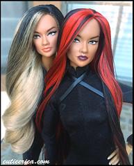 Ayumi and Angela (cutieerica) Tags: asian asiandoll integritytoys cutieerica cutieericacom ericalin fashionroyalty ayumi ayumidoll rerooted reroot