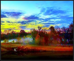 Looking East... (acastleblue) Tags: sunrise mist afteranightofstorms colours beauty greglovesadelaide art saturation allsizes acastleblue